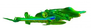 A-10 aircraft with centerline fuel tank used in System Identification (SID) of CFD.
